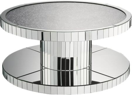 Acme Furniture Ornat 80300 Coffee and Cocktail Table Silver, Coffee Table