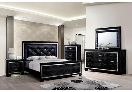 Furniture of America Bellanova CM7979BKKBDMCN Bedroom Set, Main Image