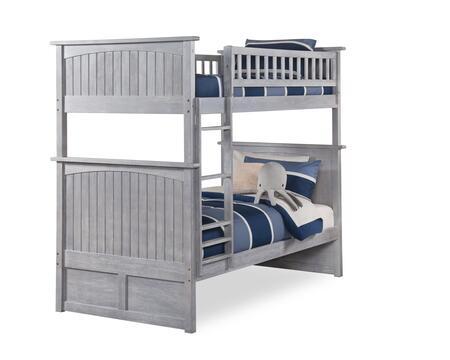 Atlantic Furniture Nantucket AB59108 Bed Gray, AB59108 SILO 30