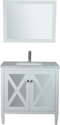 Reflection Collection MTD-7136W 36″ Single Sink Bathroom Vanity Set in