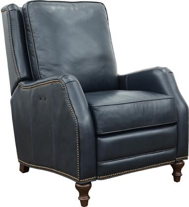 Huntington Collection 30″ 93380570047 Power Recliner with Attached Pillow Back and Nail Head Trim Accents  All Leather in Shoreham Blue
