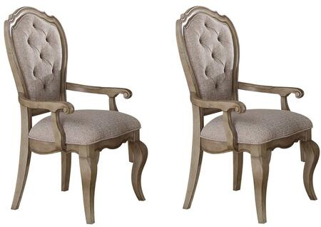 Acme Furniture Chelmsford 66053 Dining Room Chair Beige, Side Chair