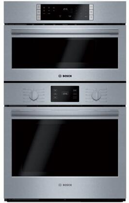Bosch 500 Series HBL57M52UC Double Wall Oven Stainless Steel, Main Image