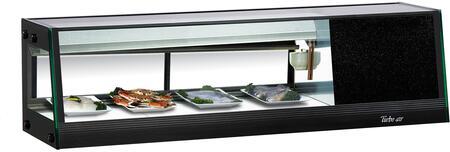 Turbo Air SAS50RN Display and Merchandising Refrigerator Black, SAS50RN Angled View