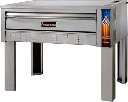 SRPO-72G 72″ Single Full Size Deck Oven with Fibra-ment Stone  110 000 BTU and 300-650 Degrees F Temperature Range in Stainless
