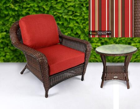 Tortuga Sea Pines LEXCT1JMONS Outdoor Patio Set Brown, LEXCT1JMONS Main Image