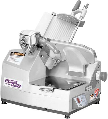 GS-12A 12″ Heavy Duty Automatic Slicer with Gear Driven Knife Motor  Half-Permanently Lubricated Worm Gears and Ergonomic Style Chute Handle in