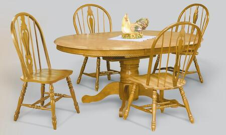 Sunset Trading Sunset Oak Selections DLUTBX4866124SLO5PC Dining Room Set Brown, Main Image