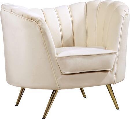 Meridian Margo 622CreamC Living Room Chair Beige, Main Image