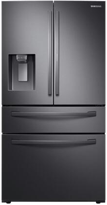 Samsung RF22R7351SG French Door Refrigerator Black Stainless Steel, Main Image