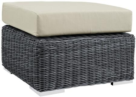 Modway Summon EEI1869GRYBEI Patio Ottoman Cream, 1
