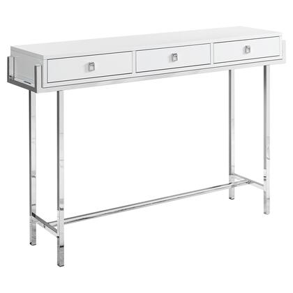 I 3297 Accent Table – 48″L / Glossy White / Chrome