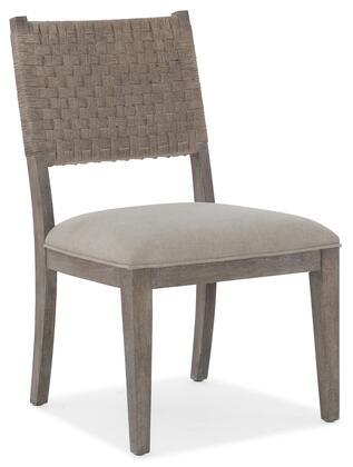 Hooker Furniture Miramar - Carmel 620075410GRY Dining Room Chair Beige, Silo Image