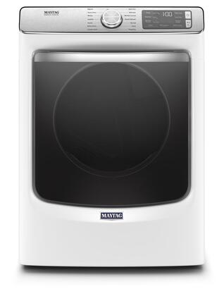 Maytag MED8630HW 27 Smart Electric Dryer with 7.3 cu. ft. Capacity, Extra Power Button, Steam Refresh Cycle and Advanced Moisture Sensing in White