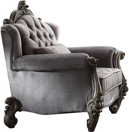 Acme Furniture Versailles 56842 Living Room Chair Gray, 1