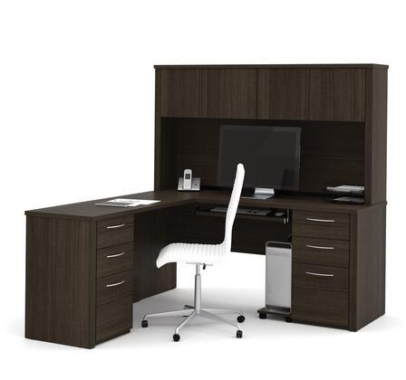 Bestar Furniture 6085379 Desk, bestar embassy 60853 79 dark chocolate 1