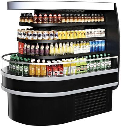 Turbo Air TIOMRSBN Display and Merchandising Refrigerator Black, 1