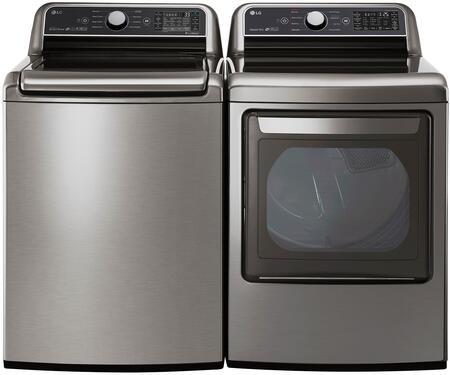 LG  988281 Washer & Dryer Set Graphite Steel, 1
