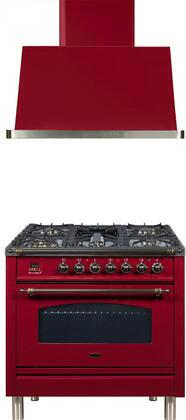 Ilve  1311526 Kitchen Appliance Package Red, Main Image