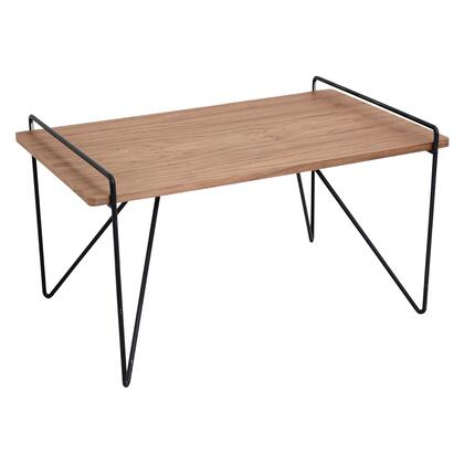 LumiSource Loft TBCLOFTWLBK Coffee and Cocktail Table Brown, TBCLOFTWL+BK(1)