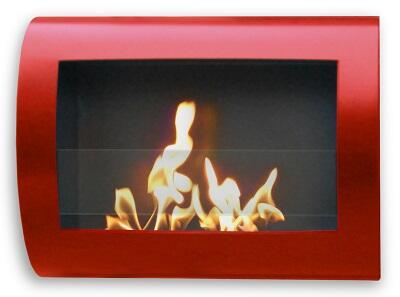 90212 Eco-Friendly Indoor Wall-Mount Fireplace In Chelsea (Red)