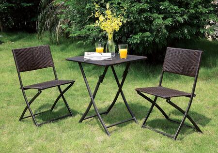 Furniture of America Seren CMOT1804 Outdoor Patio Set, CM OT1804