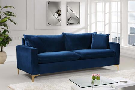 Meridian Naomi 633NAVYS Stationary Sofa Blue, Main Image