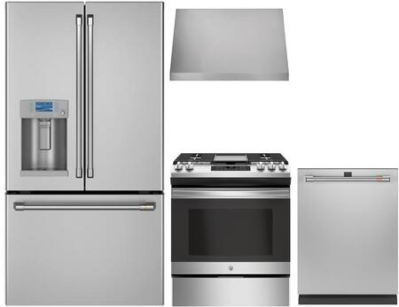 Cafe  1054638 Kitchen Appliance Package Stainless Steel, Main image