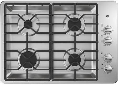 GE JGP3530SLSS 30 Inch Gas Sealed Burner Cooktop