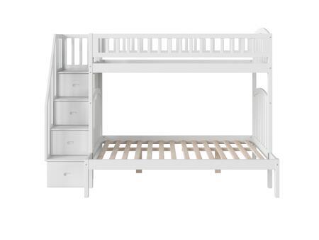 Atlantic Furniture Westbrook AB65702 Bed White, AB65702 SILO SK 180