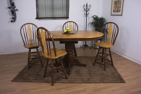 Sunset Trading Sunset Selections DLUTBX4266CBB124NLO5PC Dining Room Set Brown, Main Image