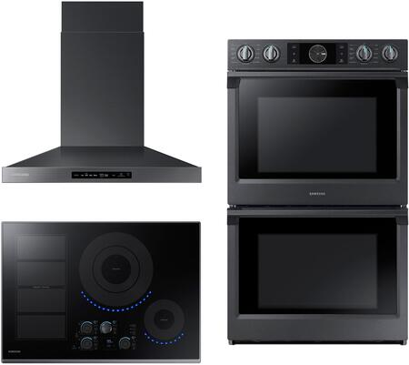 Samsung  1135463 Kitchen Appliance Package Black Stainless Steel, main image