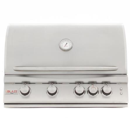 BLZ-4LTE2MG-NG 32″ Built In Marine Grade Natural Gas Grill with 4 316L Stainless Steel Burners  10K BTU Infrared Back Burner  Heat Zone Separators