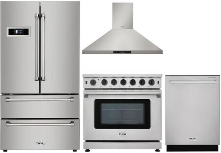 Thor Kitchen 802387 4 piece Stainless Steel Kitchen Appliances Package