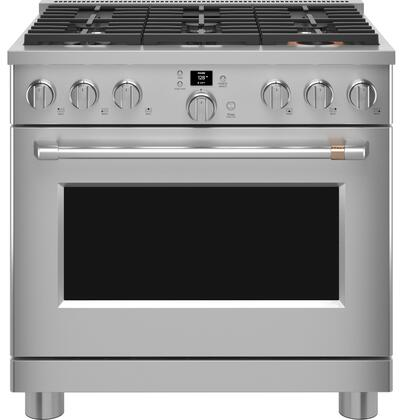 Cafe Customizable Professional Collection CGY366P2TS1 Freestanding Gas Range Stainless Steel, CGY366P2TS1 Gas Range