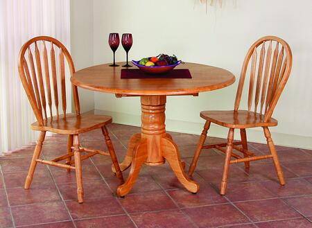 Sunset Trading Sunset Selections DLUTPD4242820LO3PC Dining Room Set Brown, Main Image