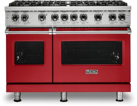 Viking 5 Series VGR5488BSM Freestanding Gas Range Red, VGR5488BSM Gas Range