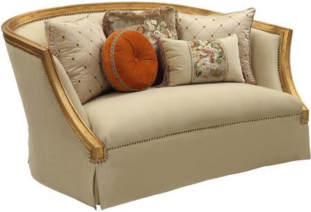 Acme Furniture Daesha 50836 Loveseat Gold, 50836 Front