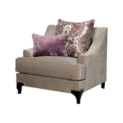Benzara Viscontti BM123459 Accent Chair Brown, BM123459