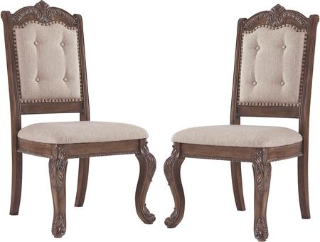 Signature Design by Ashley Charmond D80301 Dining Room Chair Brown, D80301 Main View