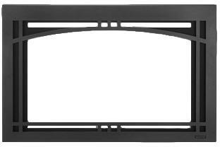 CASFI35BK Contemporary Arch 35″ Screen Front in