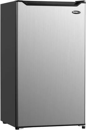 DCR044B1SLM 20″ Diplomat Stainless Steel Compact Refrigerator with 4.4 cu. ft. Capacity  Full Width Chiller  Crisper and Adjustable Glass