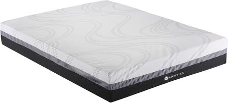 AV100 Collection AV1006 10″ King Size All Foam Mattress with Cool Balance Memory Foam Top  Non Skid Base  Triple Layered Foam and Quilted Fabric