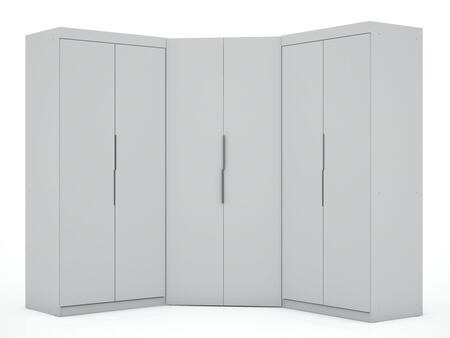 Mulberry Collection 119GMC1 Wardrobe/ Armoire/ Closet with 8 Adjustable Shelves 4 Drawers 6 Doors Contemporary Modern Style Medium-Density