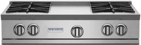 BlueStar RNB Series RGTNB364GV2L Gas Cooktop Stainless Steel, RGTNB364GV2 RNB Series Rangetop