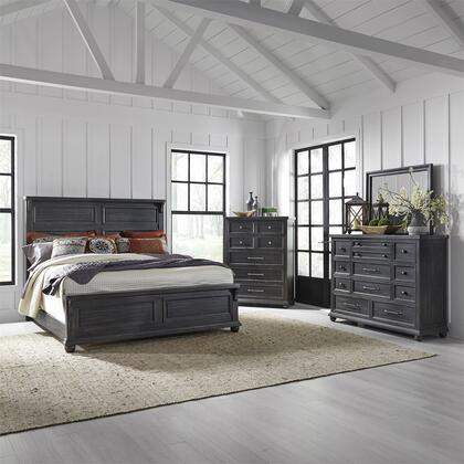 Liberty Furniture Harvest Home 879BRKPBDMC Bedroom Set Gray, 879 br qpbdmc
