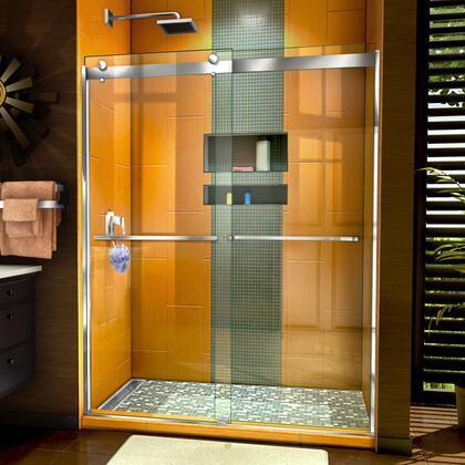 SHDR-6360762-01 Sapphire 56-60″ W x 76″ H Semi-Frameless Bypass Shower Door in