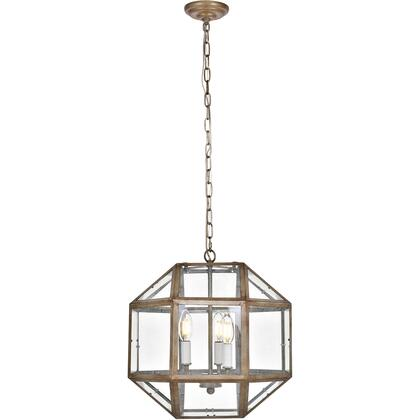 LD6001D14S Caro 3 Light 14 inch Vintage Sliver Pendant Ceiling