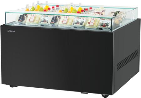 Turbo Air TOS40NNB Display and Merchandising Refrigerator Black, TOS40NNB Angled View