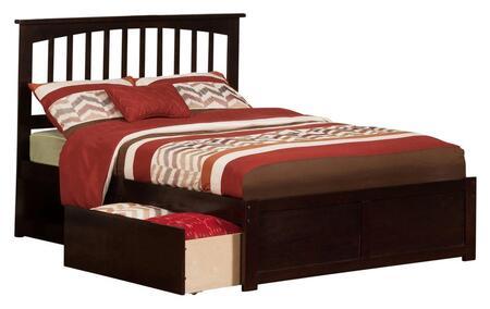 Atlantic Furniture Mission AR8732111 Bed Brown, AR8732111 side